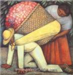 Diego Rivera, The Flower Carrier Fine Art Reproduction Oil Painting
