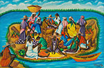 Gerard Valcin, Haitian Island Fine Art Reproduction Oil Painting