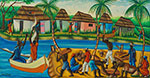 Gerard Valcin, Haitian River Fine Art Reproduction Oil Painting