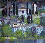 Gustave Klimt, Church at Cassone Fine Art Reproduction Oil Painting