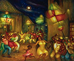 Hector Molne, Conga Camagueyana Fine Art Reproduction Oil Painting