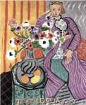 Henri Matisse, Purple Dress and Anemones Fine Art Reproduction Oil Painting