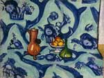 Henri Matisse, Still Life with a Blue Tablecloth Fine Art Reproduction Oil Painting