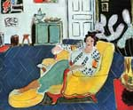 Henri Matisse, Young Girl with a Yellow Sofa Fine Art Reproduction Oil Painting