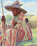 Henry Balink, Chief Trout, Pueblo Indian Fine Art Reproduction Oil Painting