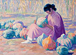Henry Balink, Cutting Melons Fine Art Reproduction Oil Painting