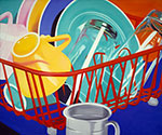 James Rosenquist, Dishes Fine Art Reproduction Oil Painting
