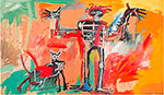 Jean-Michel Basquiat, Boy and Dog in a Johnnypump Fine Art Reproduction Oil Painting