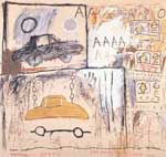 Jean-Michel Basquiat, Cadillac Moon Fine Art Reproduction Oil Painting