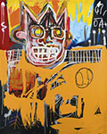 Jean-Michel Basquiat, Orange sports figure Fine Art Reproduction Oil Painting