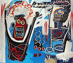 Jean-Michel Basquiat, Palm Springs Jump Fine Art Reproduction Oil Painting
