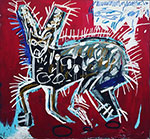 Jean-Michel Basquiat, Red Rabbit Fine Art Reproduction Oil Painting