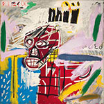 Jean-Michel Basquiat, Red Skull Fine Art Reproduction Oil Painting