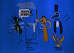 Jean-Michel Basquiat, The Dingoes That Park Their Brains with Their Gum Fine Art Reproduction Oil Painting
