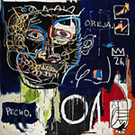 Jean-Michel Basquiat, Untitled (Pecho/Oreja) Fine Art Reproduction Oil Painting