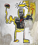 Jean-Michel Basquiat, Untitled (The Black Athelete) Fine Art Reproduction Oil Painting