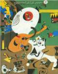 Joan Miro, Dutch Interior I Fine Art Reproduction Oil Painting