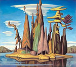 Lawren Harris, Northern Island II Fine Art Reproduction Oil Painting