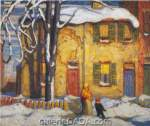 Lawren Harris, Old Houses Toronto Winter Fine Art Reproduction Oil Painting