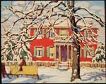Lawren Harris, Red House and Yellow Sleigh Fine Art Reproduction Oil Painting