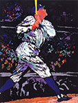 Leroy Neiman, Babe Ruth Fine Art Reproduction Oil Painting