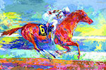 Leroy Neiman, Funny Cide Fine Art Reproduction Oil Painting