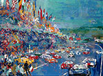 Leroy Neiman, Grand Prix Endurance Fine Art Reproduction Oil Painting