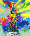Leroy Neiman, Lady Liberty Fine Art Reproduction Oil Painting