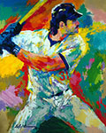 Leroy Neiman, Mike Piazza Fine Art Reproduction Oil Painting