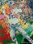 Leroy Neiman, Roger Staubach Fine Art Reproduction Oil Painting