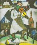 Marc Chagall, The Fiddler Fine Art Reproduction Oil Painting