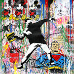 Mr Brainwash, Banksy Thrower Fine Art Reproduction Oil Painting