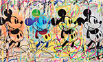 Mr Brainwash, Four Mickeys Fine Art Reproduction Oil Painting