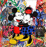 Mr Brainwash, Mickey and Minnie Fine Art Reproduction Oil Painting