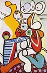 Pablo Picasso, Large Still Life on a Pedestal Table Fine Art Reproduction Oil Painting