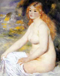 Pierre August Renoir, Blond Bather Fine Art Reproduction Oil Painting
