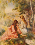 Pierre August Renoir, In the Meadow Fine Art Reproduction Oil Painting