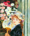 Pierre August Renoir, Lady with a Fan Fine Art Reproduction Oil Painting