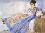 Pierre August Renoir, Madame Monet Lying on a Sofa Fine Art Reproduction Oil Painting