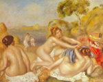 Pierre August Renoir, Three Bathers Fine Art Reproduction Oil Painting
