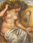 Pierre August Renoir, Woman at the Fountain Fine Art Reproduction Oil Painting