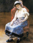 Pierre August Renoir, Young Girl with a Cat Fine Art Reproduction Oil Painting