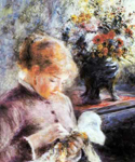 Pierre August Renoir, Young Woman Sewing Fine Art Reproduction Oil Painting