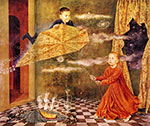 Remedios Varo, Portrait of the Children of Andrea and Lorenzo Vil Fine Art Reproduction Oil Painting