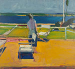 Richard Diebenkorn, Figure on a Porch Fine Art Reproduction Oil Painting