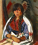 Robert Henri, Indian Girl of New Mexico Fine Art Reproduction Oil Painting