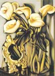 Tamara de Lempicka, Still Life with Arums and Mirror Fine Art Reproduction Oil Painting
