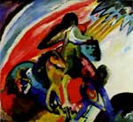 Vasilii Kandinsky, Improvisation 12 Rider Fine Art Reproduction Oil Painting