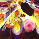 Vasilii Kandinsky, Lady in Moscow Fine Art Reproduction Oil Painting