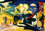 Vasilii Kandinsky, Murnau. A Village Street Fine Art Reproduction Oil Painting